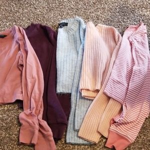 Long sleeve croptops